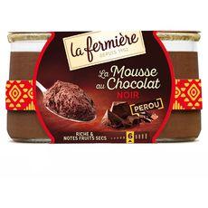 LA FERMIERE Mousse au chocolat noir 2x130g