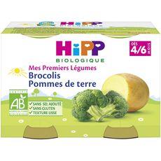 HIPP Hipp mes premiers légumes brocolis p.de terre 2x125g 4/6mois