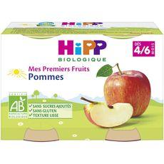 HIPP Hipp pots pommes bio 2x125g dès 4/6mois