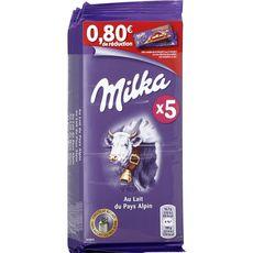 Milka tablette de chocolat au lait 5x100g