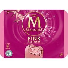 Magnum bâtonnet glace pink framboise x4 -340g