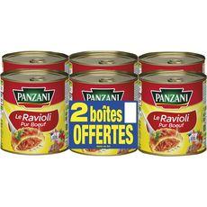 Panzani ravioli pur boeuf 4x800g + 2offerts
