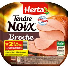 Herta tendre noix à la broche 2x4tranches +1 offerte 480g