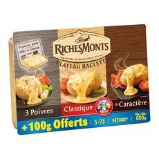 RICHESMONTS Richesmonts assortiment fromage à raclette 700g+100g offert