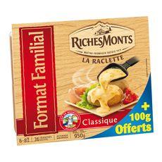RICHESMONTS Richesmonts raclette tranchée 850g +100g offert