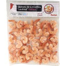 AUCHAN Queues de crevettes cuites 250g