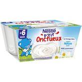 Nestlé p'tit onctueux fromage blanc sucré 4x100g dès 6 mois