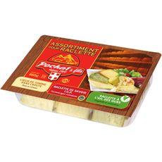 Pochat assortiment fromage à raclette saveur à l'ail 660g