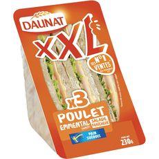 Daunat Sandwich XXL poulet fumé emmental 230g