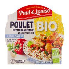 Paul et Louise Poulet bio à la méditerranéenne et son duo de riz 285g