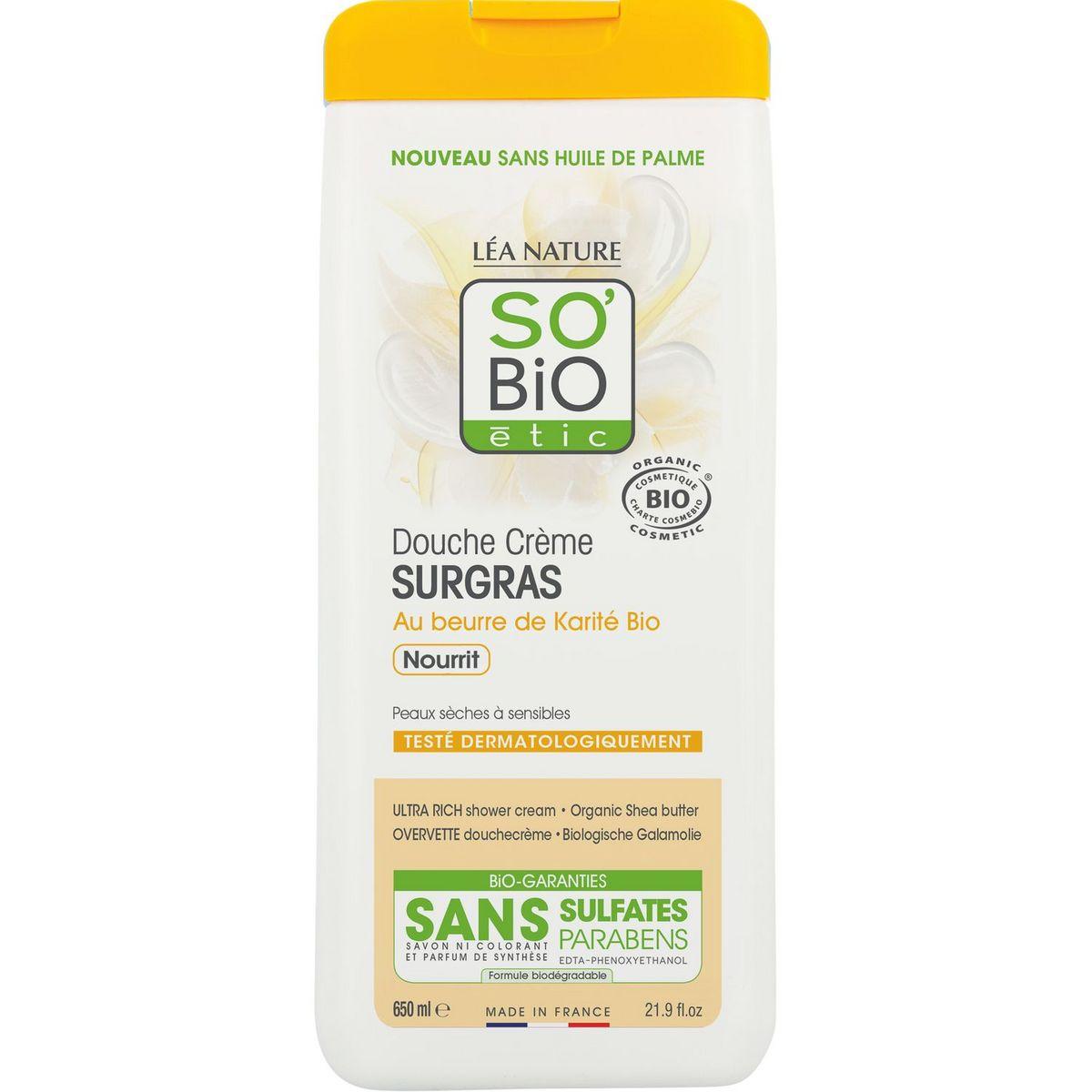 So Bio Etic Douche crème bio karité peaux sèches et sensibles 650ml