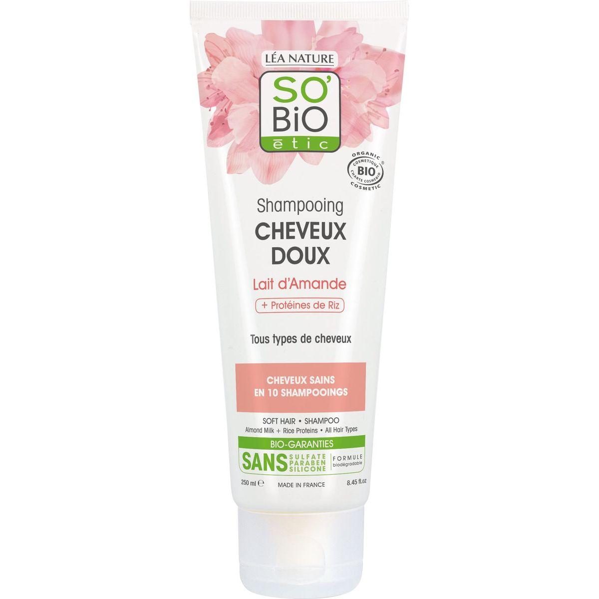 So Bio Etic Shampooing bio lait d'amande tous types de cheveux 250ml