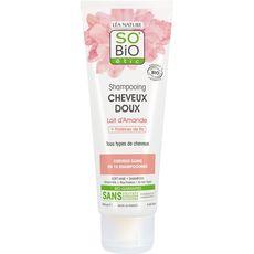 SO BIO ETIC Shampooing doux bio lait d'amande tous types de cheveux 250ml