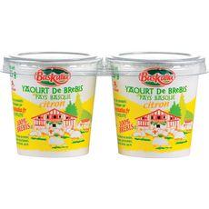 BASKALIA Yaourt citron au lait de brebis 2x125g 2x125g