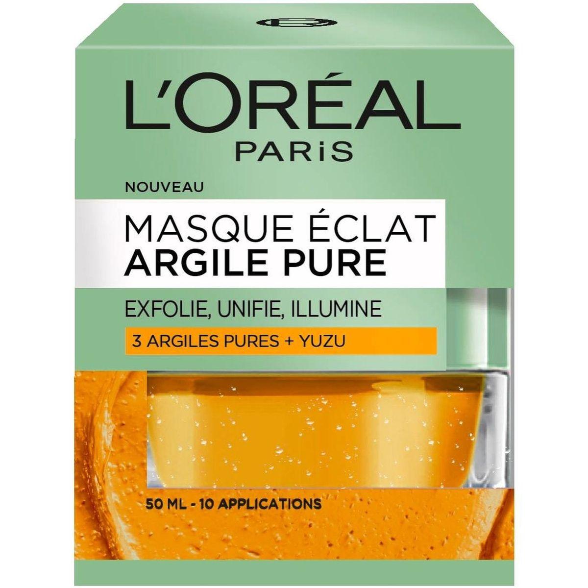 L'oréal dermo masque à l'argile jaune 50ml