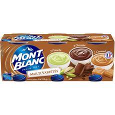 Mont Blanc crème dessert caramel chocolat pistache 6x125g