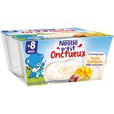 Nestlé p'tit onctueux from blanc fruits exotiques 4x100g 8m