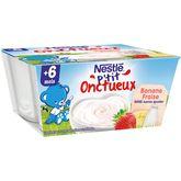 Nestlé p'tit frutti fraise banane 4x100g dès 6 mois