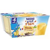 Nestlé petit flan vanille 4x100g dès 6 mois