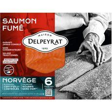 DELPEYRAT Saumon fumé de Norvège 6 tranches 210g
