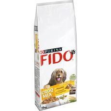 FIDO Croq mix croquettes au poulet céréales et légumes pour chien 15kg