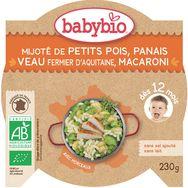 Babybio petits pois veau macaroni 230g dès 12 mois