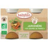 Babybio jardinière de légumes 2x130g dès4mois