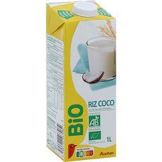 AUCHAN BIO Boisson riz coco 1l