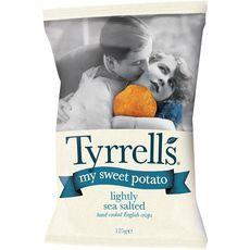 TYRRELL'S Chips de patates douces légèrement salées 125g