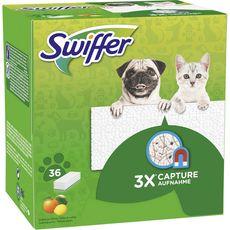 Swiffer lingettes pour balai spécial animaux x36