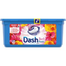Dash pods lessive 3en1 coquelicot écodose x29 -0,765l