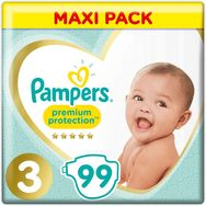 Pampers premium protection méga x96 taille 3