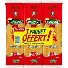 PANZANI Capellini 2x500g +500g offert