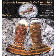 SEA GOLD Queue de langouste crue des caraïbes 2 pièces 340g