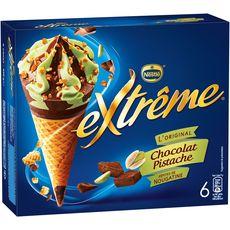 Extrême Cône glacé au chocolat et à la pistache 426g