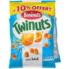 Bénénuts twinuts salées 2x150g +10% offert