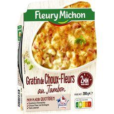 Fleury Michon gratin de choux fleur au jambon 280g