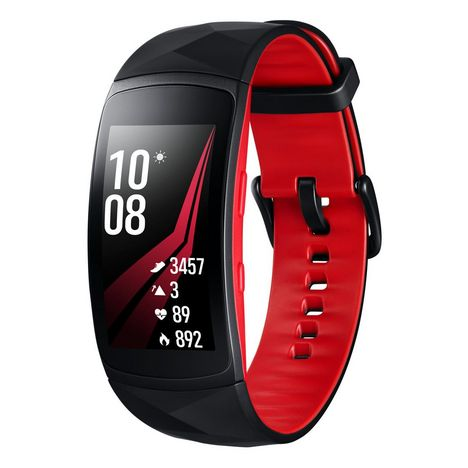 SAMSUNG Bracelet connecté - Gear Fit2 Pro - Bluetooth - Rouge - Taille L