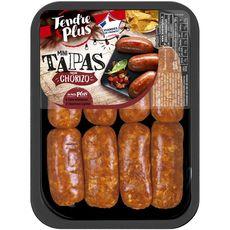 TENDRE&PLUS Mini Tapas mini saucisses façon chorizo 8 pièces 320g