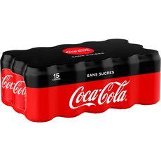 Coca-Cola zéro canette 15x33cl