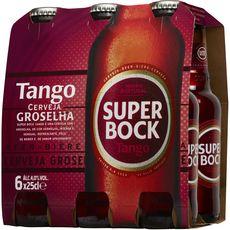 SUPER BOCK Bière blonde portugaise tango fruit rouge 6,4% bteilles 6X25cl