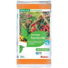 Auchan Terreau horticole potagers et toutes plantes 20l