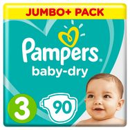 Pampers Baby-dry couches taille 3 (6-10kg) x90
