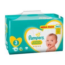 PAMPERS Premium protection mega pack couches taille 3 (6-10kg) 98 couches