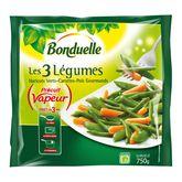 Bonduelle mélange 3 légumes haricots verts carottes 750g