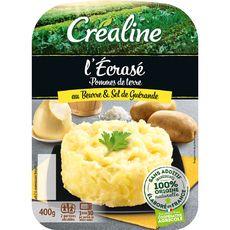Créaline Écrasé de pommes de terre au beurre et sel de guérande 2x200g