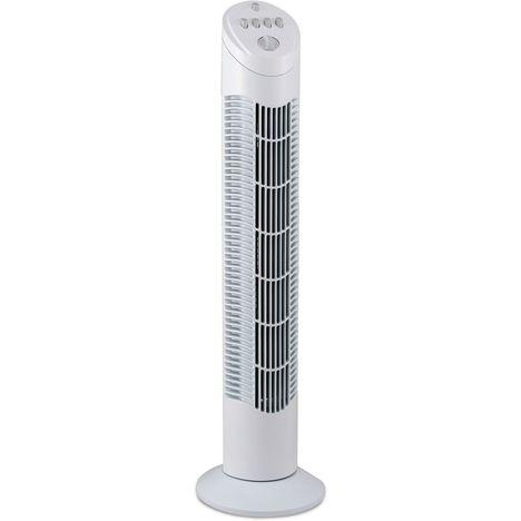 KINGD'HOME Ventilateur colonne VEL481T - Blanc