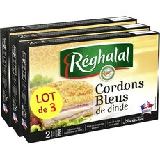 REGHALAL cordon bleu de dinde halal 6 pièces  3x200g