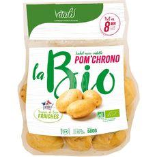 Pommes de terre de consommation à chair ferme bio micro-ondable 500g