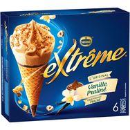 Extrême cône vanille praliné x6 -426g
